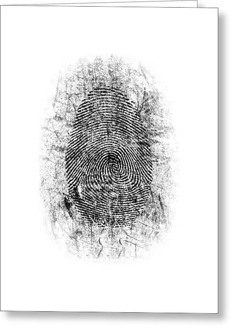 Dusted Fingerprint Greeting Card