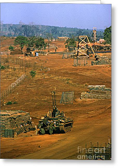 Duster Of 4/60th Artillery At  Lz Oasis Vietnam 1969 Greeting Card by California Views Mr Pat Hathaway Archives