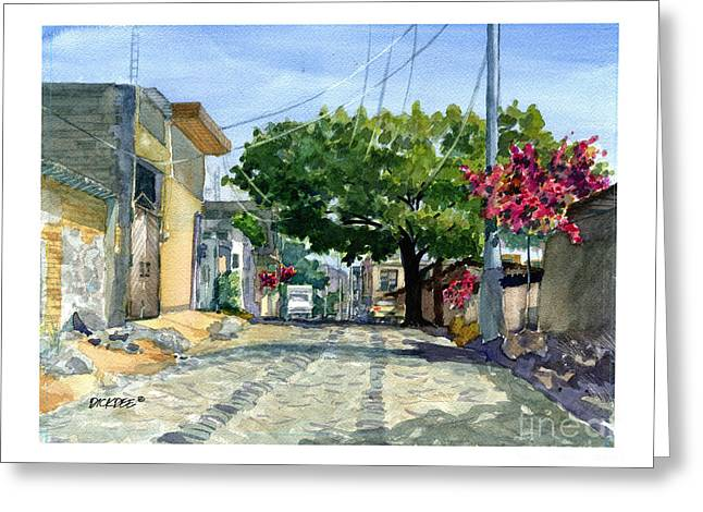 Dusty Backstreet In Ajijic Greeting Card