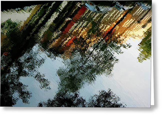 Dutch Canal Reflection Greeting Card