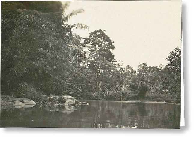 Dutch East Indies, Indonesia, River Deli Toewa Greeting Card by Artokoloro