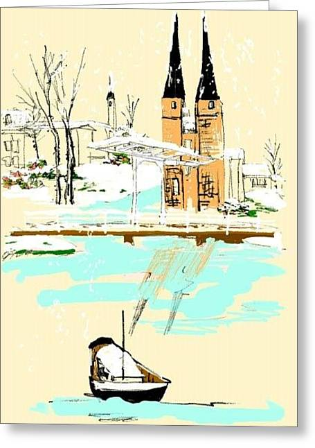 Dutch Gone Digital Greeting Card by Debbi Saccomanno Chan
