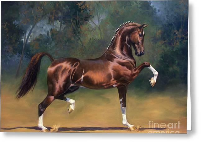 Dutch Harness Horse Saffraan Greeting Card by Jeanne Newton Schoborg