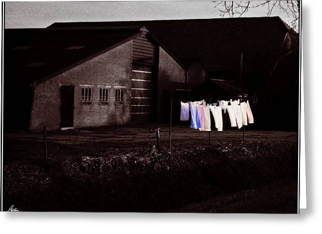 Dutch Incongruities At Dusk Greeting Card