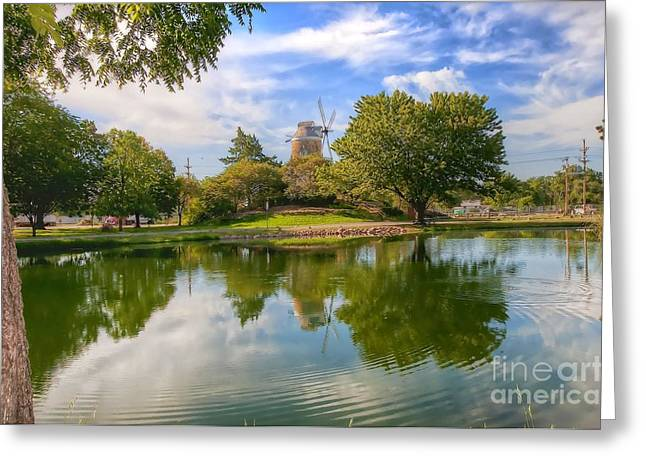 Greeting Card featuring the photograph Dutch Mill  by Liane Wright