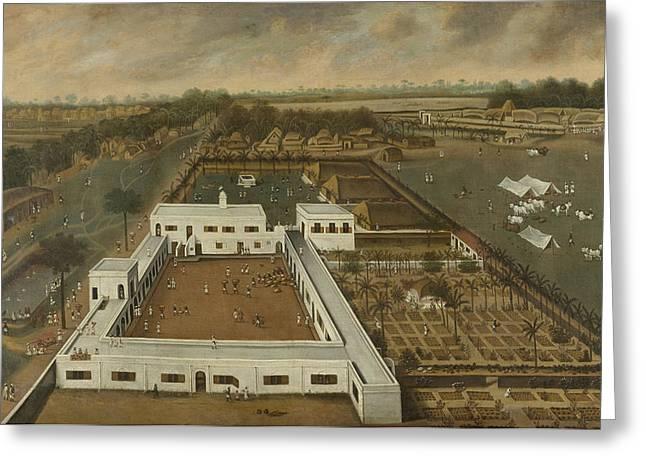 Dutch Plantation In Bengal, Hendrik Van Schuylenburgh Greeting Card by Litz Collection