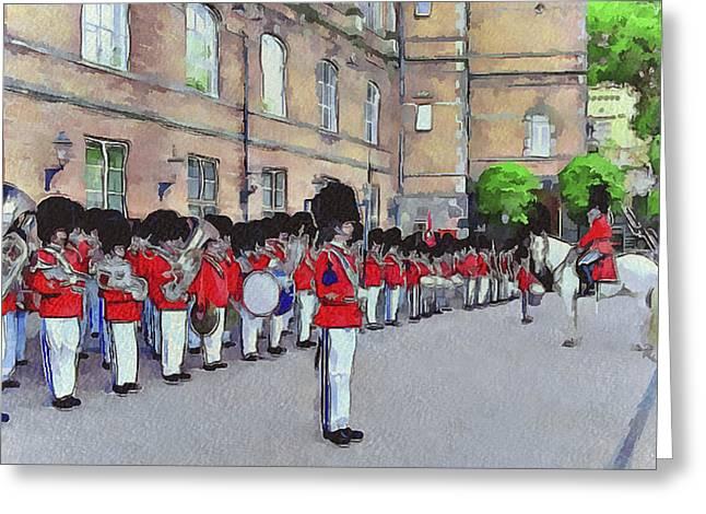 Dutch Royal Guards Greeting Card