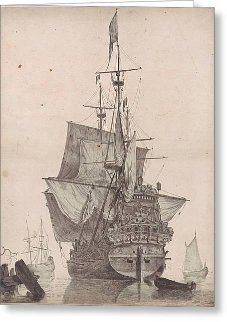 Dutch Warship, Anonymous Greeting Card