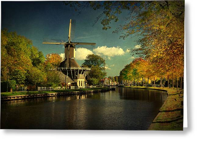 Greeting Card featuring the photograph Dutch Windmill by Annie Snel