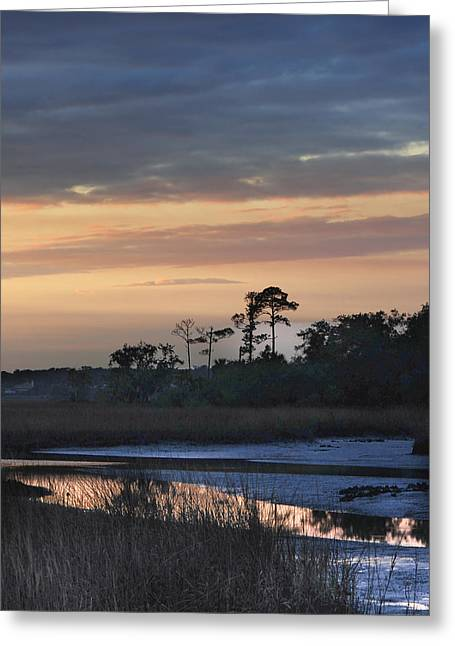 Dutton Island At Dusk Greeting Card