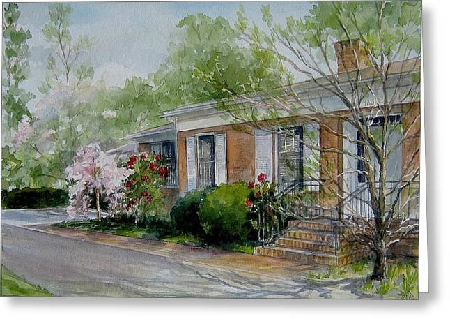 Duvall Home Portrait Greeting Card by Gloria Turner