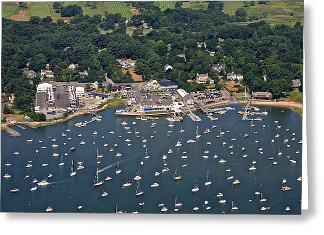 Duxbury Harbor And Downtown Duxbury Greeting Card by Dave Cleaveland