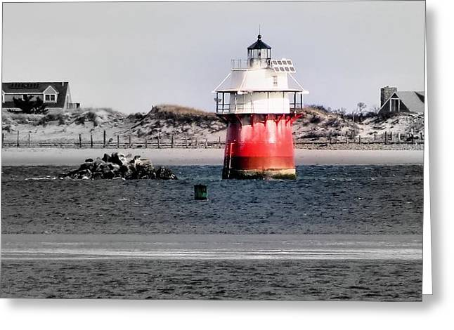 Duxbury Pier Light Greeting Card