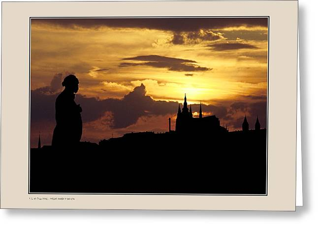 Dvorak And Skyline Greeting Card by Pedro L Gili