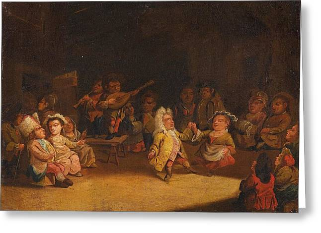 Dwarfs In A Tavern Greeting Card