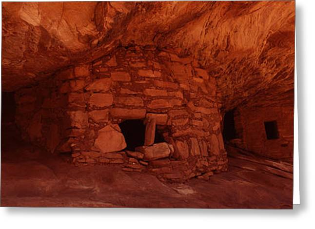 Dwelling Structures On A Cliff, House Greeting Card by Panoramic Images