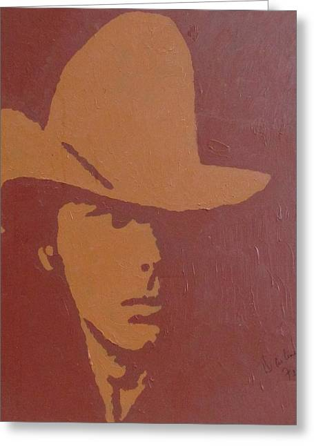 Dwight Yoakam Greeting Card by Darlene Fernald