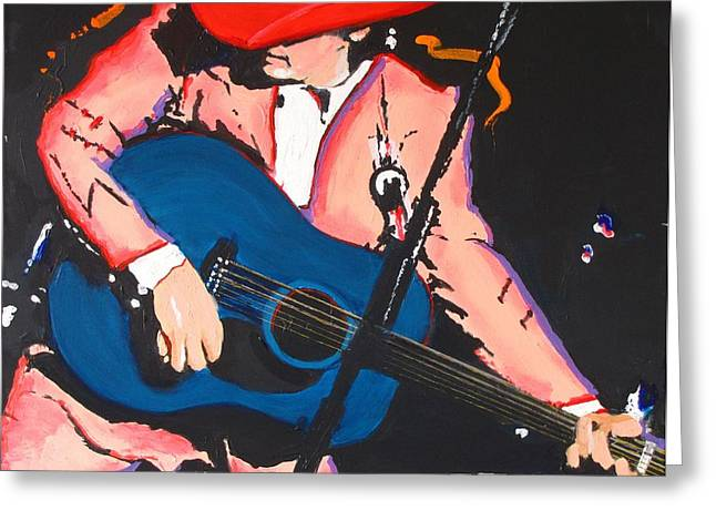 Greeting Card featuring the painting Dwight Yoakam by Eric Dee