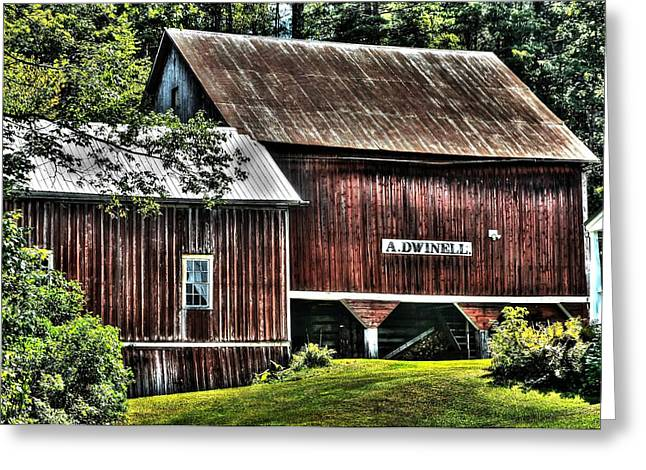 Dwinell's Barn Greeting Card by John Nielsen