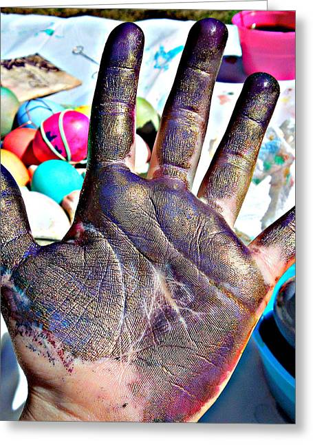 Dyed Hand Greeting Card