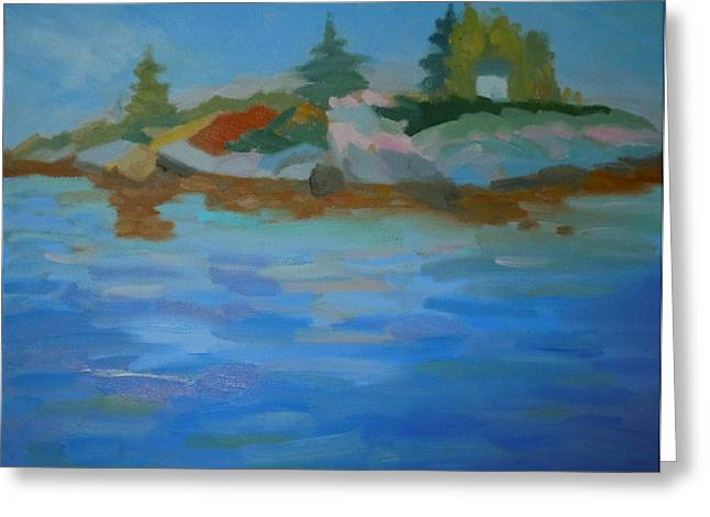 Dyer Bay Island Greeting Card by Francine Frank