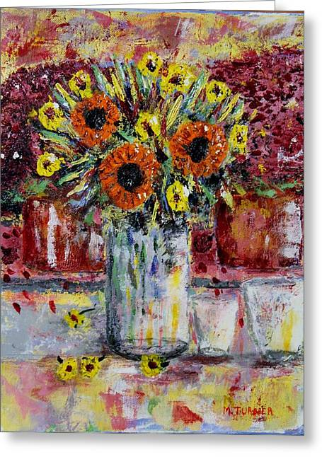 Dying Flowers Greeting Card by Melvin Turner