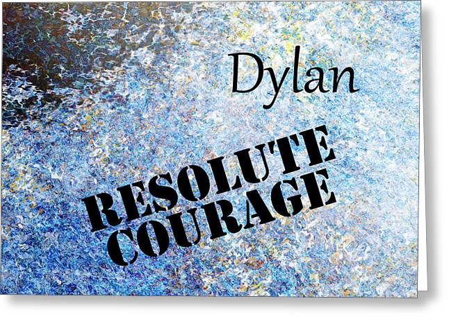 Dylan - Resolute Courage Greeting Card by Christopher Gaston