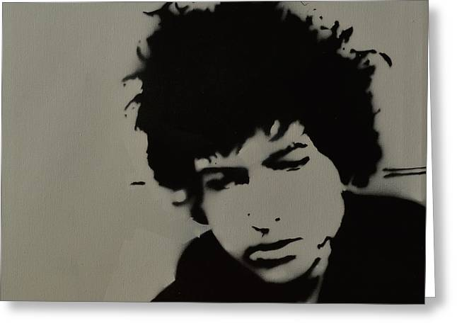 Dylan Spray Art Greeting Card by Laura Toth