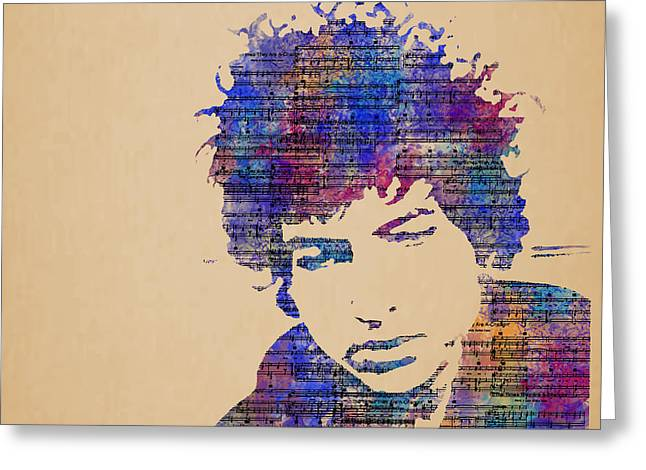 Dylan Watercolor Greeting Card by Laura Toth