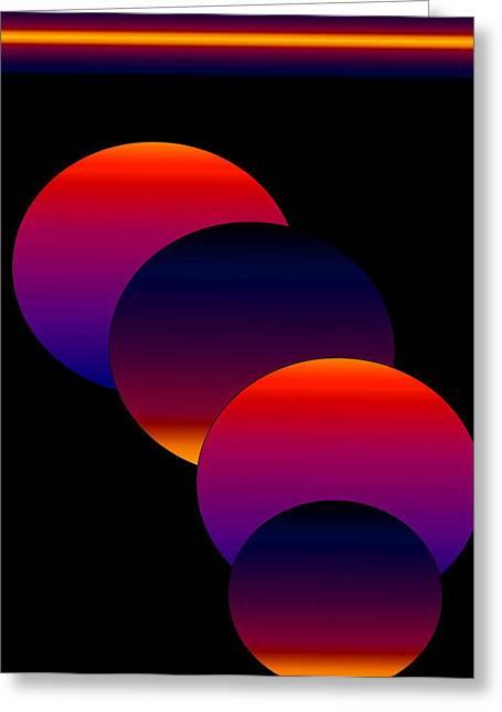 Dynamic Circles Greeting Card by Gayle Price Thomas