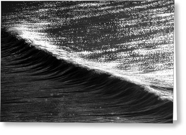 Dynamic Curve Greeting Card by Sean Davey