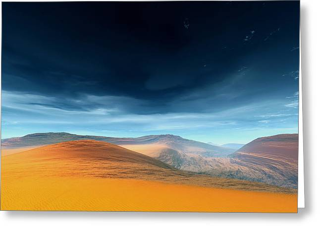 Dynamic Desert Greeting Card by Jean Paul Thierevere