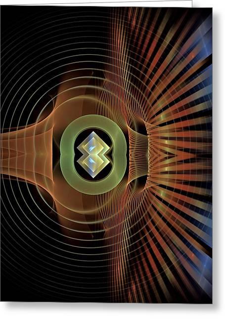 Dynamic-range-1-left-panelbb Greeting Card by Bill Campitelle