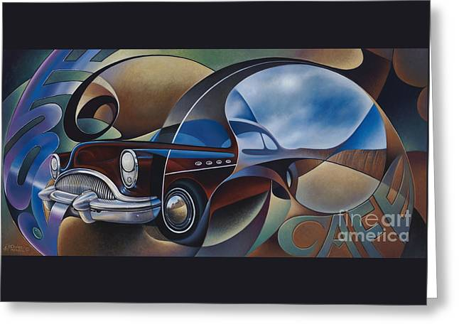 Dynamic Route 66 Greeting Card by Ricardo Chavez-Mendez