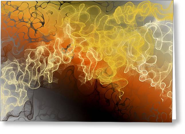 Dynamic Scribbles Greeting Card by Constance Krejci