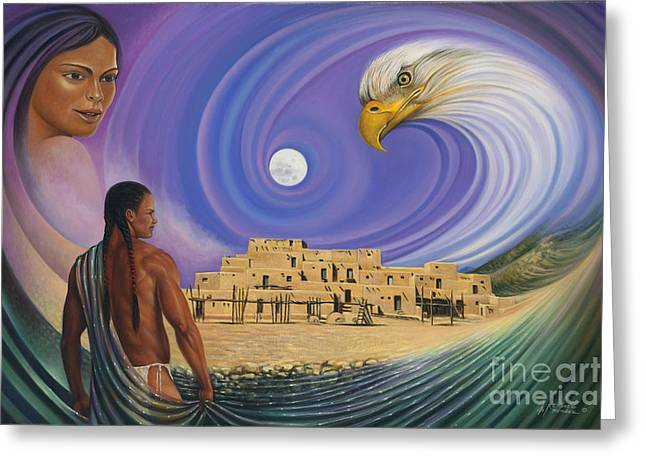 Dynamic Taos I Greeting Card by Ricardo Chavez-Mendez