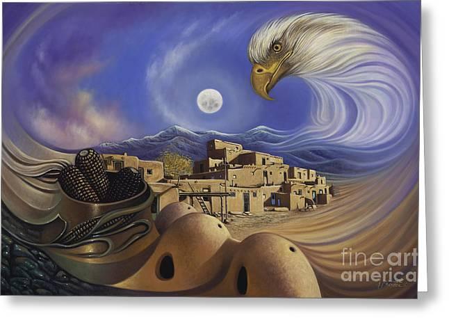 Dynamic Taos Ill Greeting Card by Ricardo Chavez-Mendez