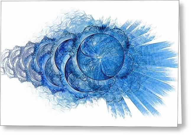 Dynamo-blue Greeting Card by Doug Morgan