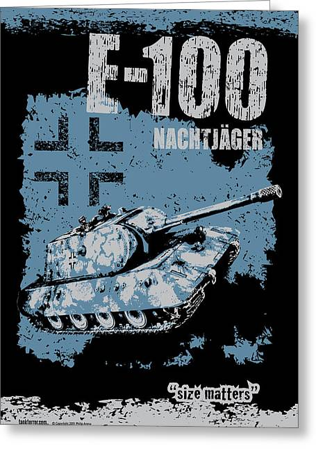 E-100 Nachtjager Greeting Card by Philip Arena