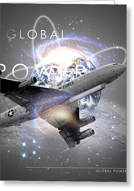 E-8 Joint Stars --- Global Power Greeting Card