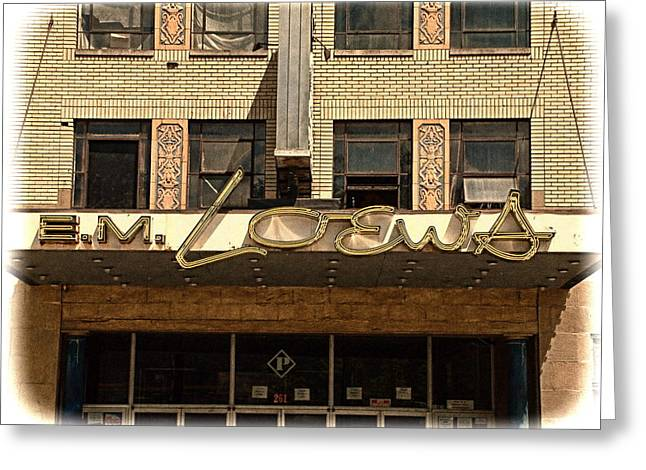 E M Loews Theater Greeting Card by Mike McCool