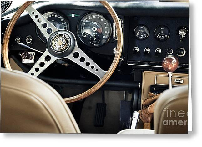 E Type Jag - Interior Greeting Card