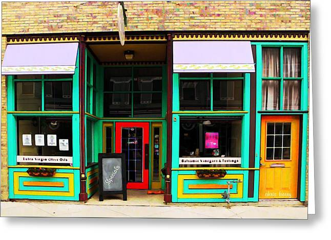Shop Window Greeting Card by Chris Berry