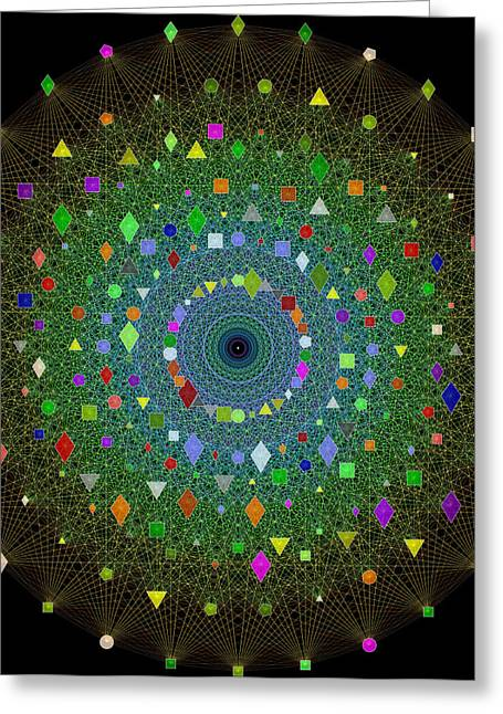 E8 Theory Of Everything Greeting Card by J Gregory Moxness