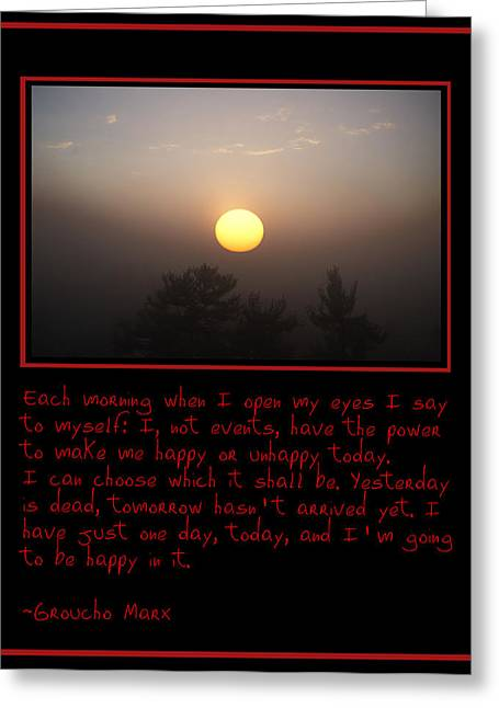 Each Morning Greeting Card by Bill Cannon