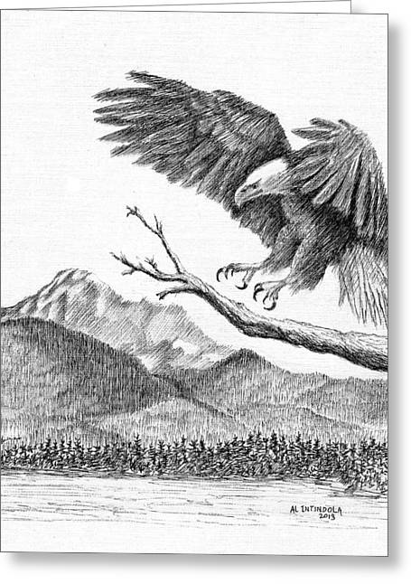 Eagle 4 Greeting Card