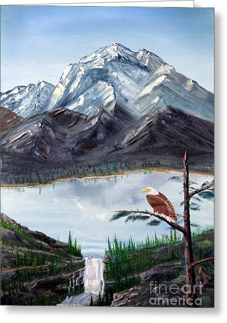 Eagle At Denali Greeting Card by Stephen Schaps