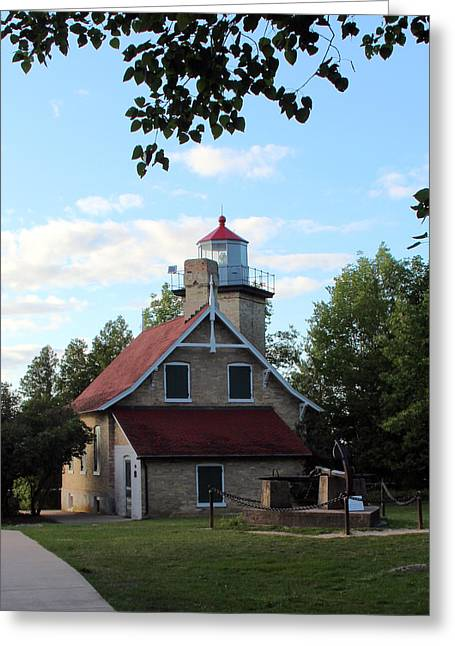 Eagle Bluff Lighthouse Greeting Card by George Jones