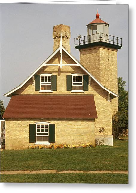 Eagle Bluff Lighthouse, Wi Greeting Card by Bruce Roberts