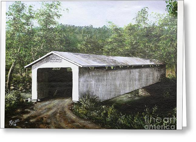 Eagle Creek Covered Bridge Brown County Ohio Greeting Card by Rita Miller